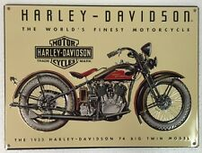 Ande Rooney HARLEY DAVIDSON 74 BIG TWIN 1933 Motorcycle HD Garage Tin Sign New