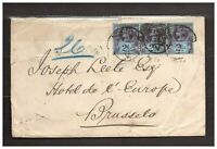 s32095) UK GREAT BRITAIN 1894 Cover London Bruxelles - Franked Perfin