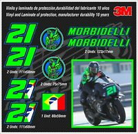SET FRANCO MORBIDELLI 21 GP ,stickers-pegatinas-aufkleber-autocollants-adesivi,