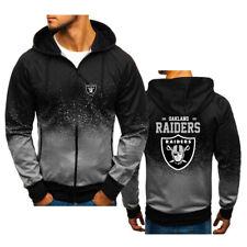 Oakland Raiders Hoodie Splash-Ink Gradient Hooded Sweatshirt Fans Sports Jacket