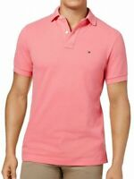 Tommy Hilfiger Mens Casual Shirt Preppy Pink Size 2XL Collar Polo Rugby $49 154