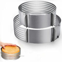 Adjustable Ring Round Cookie Cutter Metal Biscuit Pastry Cake Bake Mould Mold