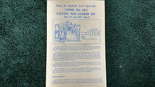 LIONEL # 342 CULVERT PIPE LOADER SET INSTRUCTIONS PHOTOCOPY