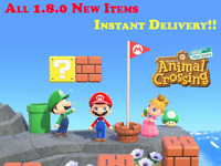 Super Mario Update-1.8a ALL Items Animal Crossing:New Horizons, Instant Delivery