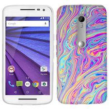 For Motorola Moto G 3rd Gen 2015 Swirl Paint Case Skin Cover