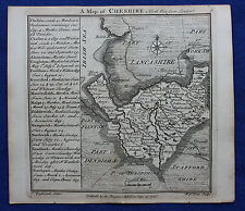 Original antique copper-engraved map CHESHIRE, Badeslade & Toms, 1742