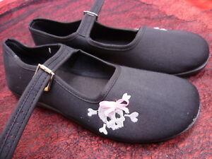 Ballerinas Demonia schwarz Gothic Girli Rockabilly Gr.6/7/9