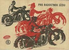 Print.  1953 Jawa and CZ motorcycle advertisement