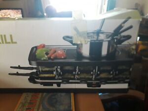 """""""shef"""" 12 Portion RACLETTE GRILL With FONDUE Used But In Good Condition GWO"""