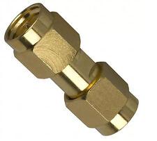 2 Adapter Coaxial SMA Male Plug To SMA Male Plug 50 Ohm connectors NEW # 132168