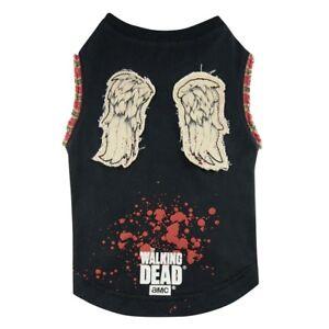 Walking Dead Daryl Wings Dog T-Shirt Small