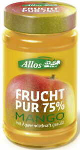 MANGO MOUSSE (75% OF FRUIT) BIO 250 g - ALLOS