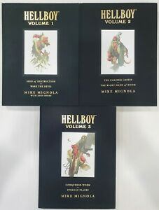 Hellboy - VOLUMES 1-3 - LIBRARY EDITIONS - Hardcovers - Mignola -Graphic Novels