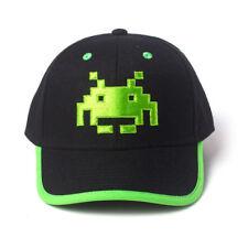 Official SPACE INVADERS Casquette de Baseball Snapback Chapeau Vert Retro Gaming Cadeau