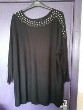 EVANS BLACK STUDDED LONG JUMPER SIZE 26/28