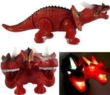 "16"" Large Walking 2 Headed Dinosaur Jurassic World Figure Light & Sound Dinasour"