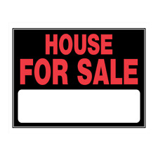 Hillman 842164 House for Sale with Fill In, Plastic Sign, 15x19 Inches 1-Pack