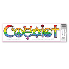 CS375-MAG Rainbow Transgender Coexist Trans Rights Peace Sticker MAGNET