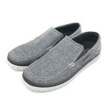 Crocs Men's Santa Cruz Playa Slip-on Shoes Size 10 Graphite/Light Grey NEW