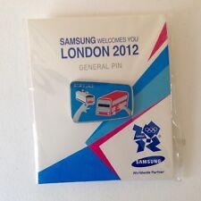 London 2012 Olympic Samsung Pin Badge / London Tube & Bus VERY RARE
