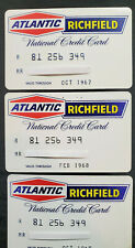 Atlantic Richfield Lifetime National Customer Credit Card Lot of 3