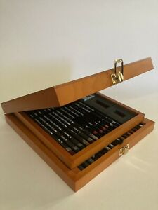 Derwent fine art pencils wooden box set 33 pieces (almost) unused
