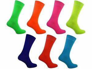 Mens Bright Neon Teddy Boy Rock & Roll 50's 60's 70's 80's 90s Fancy Dress Socks