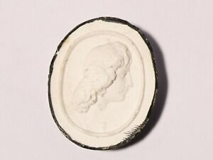 19thC High Relief Bust Plaster Moulded Tassie Intaglio Seal Grand Tour #P33