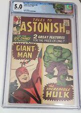 TALES to ASTONISH #60 GIANT-MAN MARVEL SILVER AGE KIRBY STAN LEE  HULK  CGC 5.0