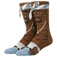 2 Pac Stance Anthem Socks Large Men's sz 9-12 Brown M545A17TUP Combed Thug Life