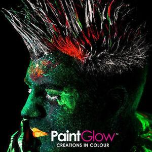 Vernice UV glow fluorescente per capelli in 7 colori da 20ml non tossico