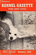 Vintage American Kennel Gazette January 1952 Cocker Spaniel Cover