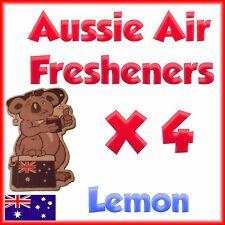 Car Air freshener home truck deodoriser Lemon scent quad pack 4 in 1