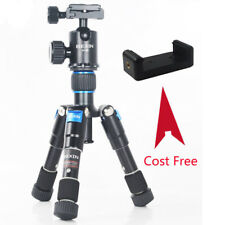 Lightweight Camera Tripod Compact Aluminum Tripod Desktop Mini Tripod with Head