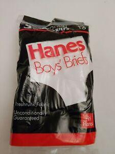 1992 Vintage Hanes 3 Boys' Briefs Size 16 feedstock USA made materials