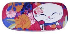 Etui à lunettes rigide chat porte bonheur Mani the Lucky Cat rose orange bleu