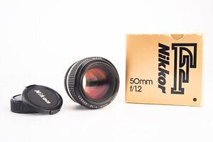 Nikon Nikkor 50mm f/1.2 Ai S Fast Prime Lens in Box with Caps Near MINT V14
