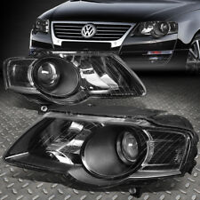 For 2006 2010 Vw Pat Pair Black Housing Clear Side Projector Headlight Lamps