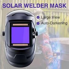 Super Large View Welding Helmet Auto-Darkening Solar Powered ARC Lithium Battery
