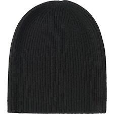 UNIQLO Women's / Unisex 100% Cashmere Knit Beanie / Hat / Cap Dark Gray **NWT**