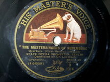 """78 tr/min 12"""" Wagner The Mastersingers de Nuremberg, Beurk"""