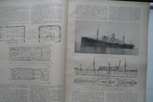 1925 Schifffahrt Hamburg Amerika Limie MS Motorschiff Vogtland