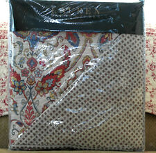 Ralph Lauren Quilt Terracotta Cream Floral Paisley Medallion Reversible Queen