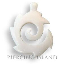 Tribal Amulett Anhänger inkl. Band Bone Knochen Maori Design PB004