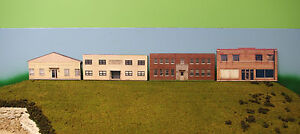 HO scale 4 OLD BUILDINGS background building flat