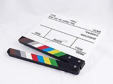 Clapperboard Filmklappe Movieklappe White Board mit bunten Streifen Slate