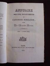 Annuaire des cinq départements de l'ancienne Normandie 1845