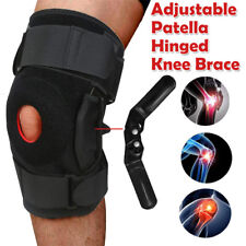 Double Hinged Knee Brace Open Patella Support Stabilizer Medical Sports Wraps