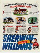 1946 ORIGINAL VINTAGE SERWIN-WILLIAMS PAINT MAGAZINE AD