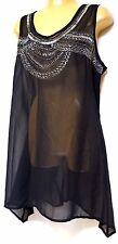 TS Top Taking Shape Virtu Plus Sz Xs/ 14 Glitterati Overlay Sheer Drape
